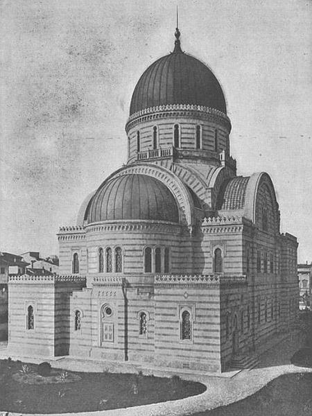Sinagoga v judovski tradiciji ni pogoj za opravljanje verskih obredov, zato (drugače kot krščanske cerkve) sinagoge niso posvečene. Foto: Jewish Encyclopedia