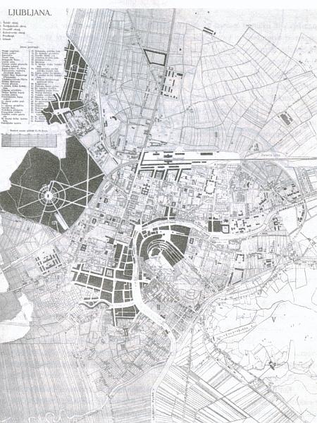 Jože Plečnik: Regulacijski načrt za središče Ljubljane