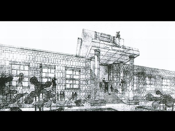 Edvard Ravnikar: Moderna galerija (perspektivična risba)