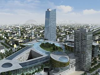 Del potniškega centra Emonika bodo tudi lokali, restavracije, multikino in rekreacijske površine. Foto: MOL