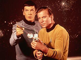Leonard Nimoy in William Shatner alias Spock in kapitan Kirk