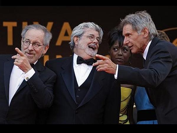 Steven Spielberg, George Lucas in Harrison Ford