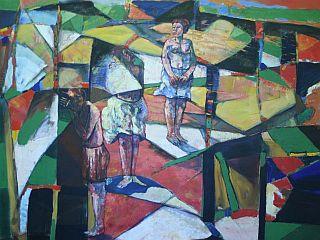 Barve so polja živa in zapirajoča se vase, meni Atanasov. Foto: