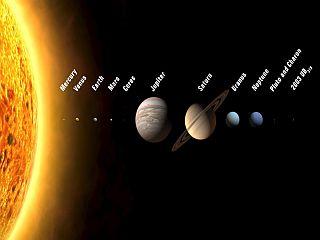 Vrstni red bi bil od zdaj tak: Merkur, Venera, Zemlja, Mars, Ceres, Jupiter, Saturn, Uran, Neptun, Pluton, Charon in 2003 UB313, ki ima začasno ime Xena. Foto: EPA