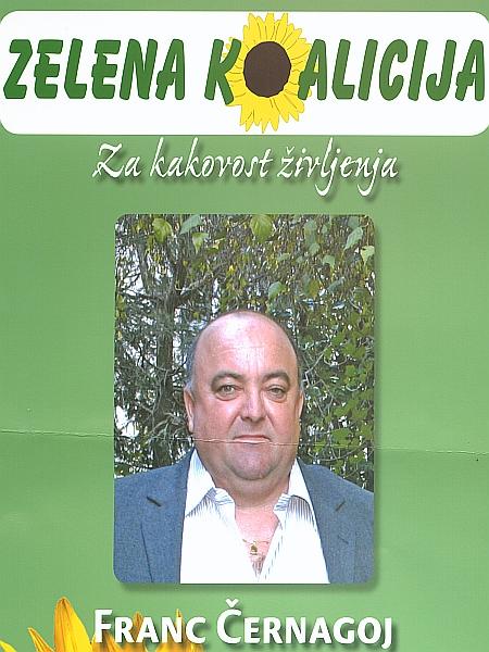 Černagoj rad izpostavi slogan Zelene koalicije: Za kakovost vašega življenja, ki jo bomo skupaj soustvarjali. Foto: MMC RTV SLO