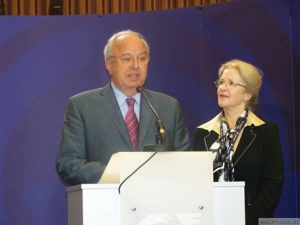 Andrej Bajuk z ženo