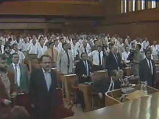 Sprejem Brionske deklaracije v skupščini