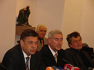 Zoran Janković je na tiskovni konferenci predstavil svojo ekipo. Foto: RTV SLO