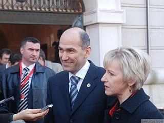 Janez Janša in Margot Wallström
