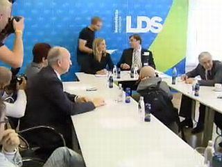 Predsednica LDS-a Katarina Kresal je dejala, da stranka na volitvah ni dosegla tistega, kar si je želela in pričakovala. Foto: MMC RTV SLO
