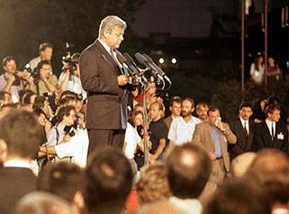 Trg republike 26. junija 1991 ob razglasitvi suverene države