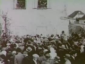 Združitev Prekmurja s Slovenijo je leta 1919 pozdravilo skoraj 20.000 ljudi. Foto: RTV SLO