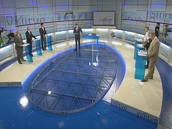 TV Slovenija je soočila šest predsednikov zunajparlamentarnih strank. Foto: MMC RTV SLO