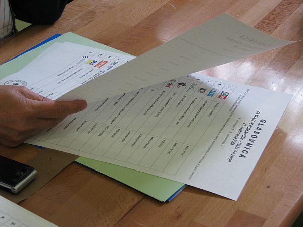 Državna volilna komisija bo dokončen neuradni izid volitev sporočila v ponedeljek. Foto: MMC RTV SLO