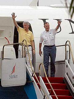 Bill Clinton in Geogre H. W. Bush