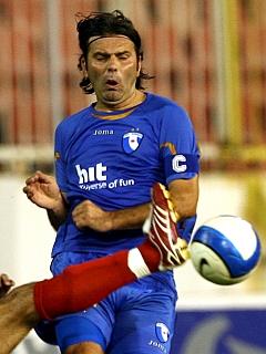 Enes Demirovič je bil eden boljših igralcev na igrišču in je prispeval obe podaji za goriška gola.. Foto: EPA