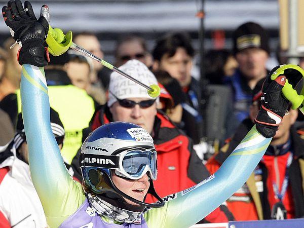 Maruša Ferk pred današnjim slalomom še ni bila boljša kot 15. Foto: Reuters