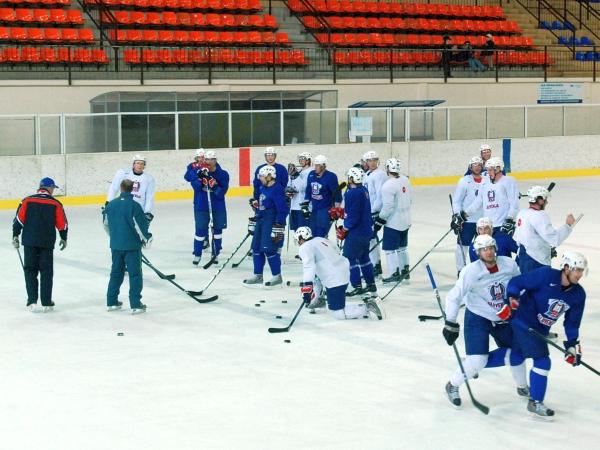 Slovenski hokejisti so se na SP 10 dni pripravljali na Bledu. Foto: MMC RTV SLO