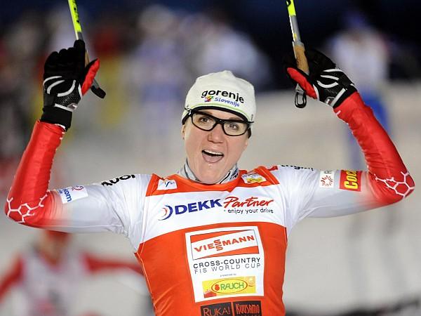 Petra Majdič je v Kuusamu dosegla šprinterski hat trick. Foto: Reuters