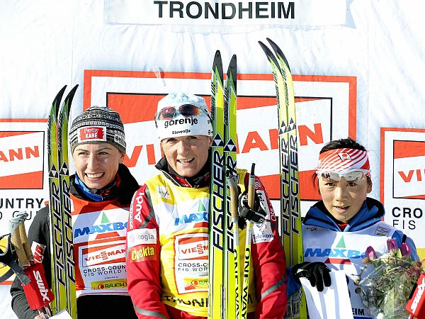 Justyna Kowalczyk, Petra Majdič, Masako Išida
