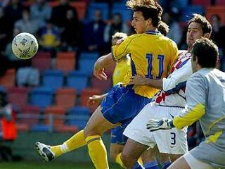 Zlatan Ibrahimovic med akcijo.