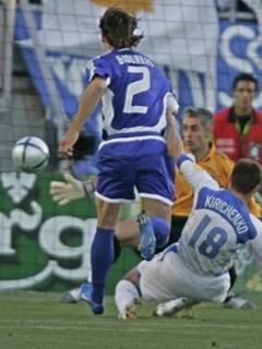 Takole je Kiričenko dosegel najhitrejši gol na evropskih prvenstvih.