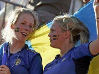 Švedske navijačice niso imele razloga za veselje.