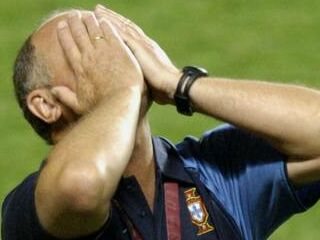 Selektor Luis Felipe Scolari se je lahko le prijel za glavo.