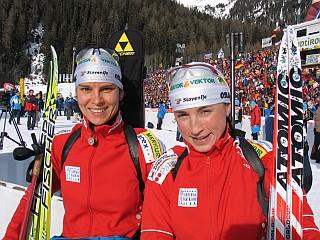 Dijana Ravnikar Grudiček in Teja Gregorin bosta glavni slovenski orožji na severu Evrope. Foto: MMC RTV SLO