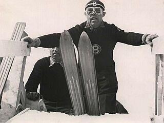 Avstrijec Sepp Bradl je leta 1936 prvi poletel prek 100 metrov. Foto: