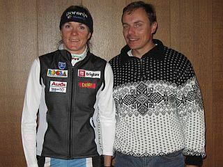 Petra Majdič in Ivan Hudač