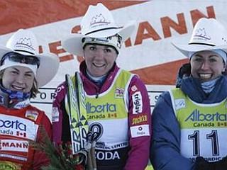 Astrid Jacobssen, Petra Majdič in Justyna Kowalczyk