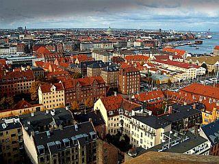 Pogled na Köbenhavn z ene izmed najvišjih točk mesta. Foto: RTV SLO